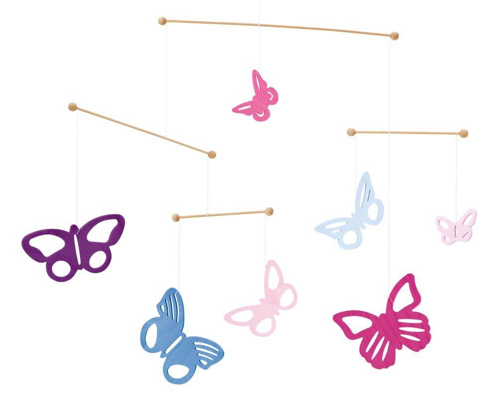 Mobile Bois Bebe Papillons