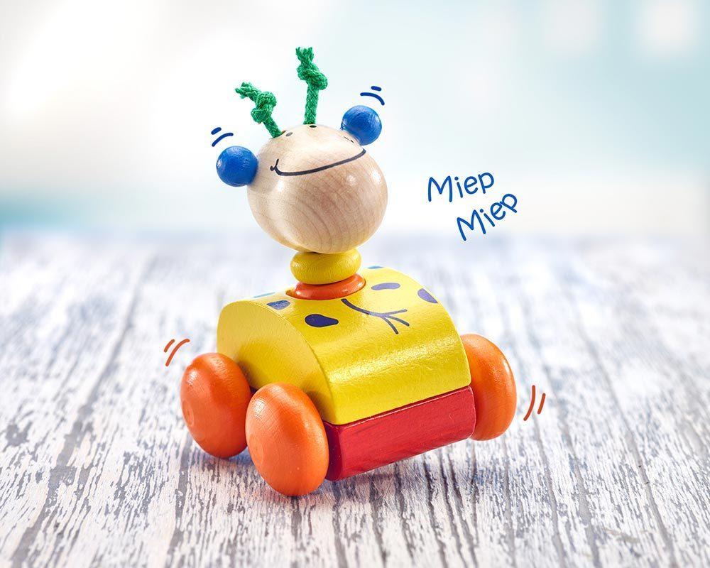 jouet roulant bois hochet qui couine girafe
