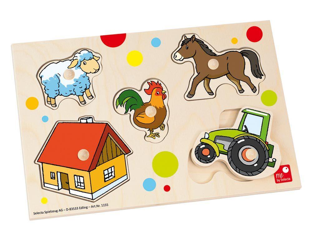 bois puzzle bebe ferme