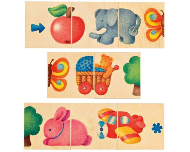bois puzzle frise bebe illustration