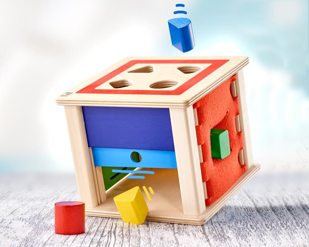 bois boite a formes briques de construction varianto