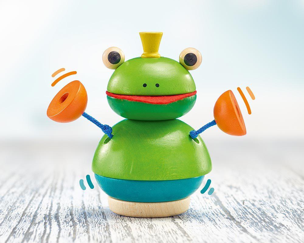 bois jouet a empiler grenouille pepito