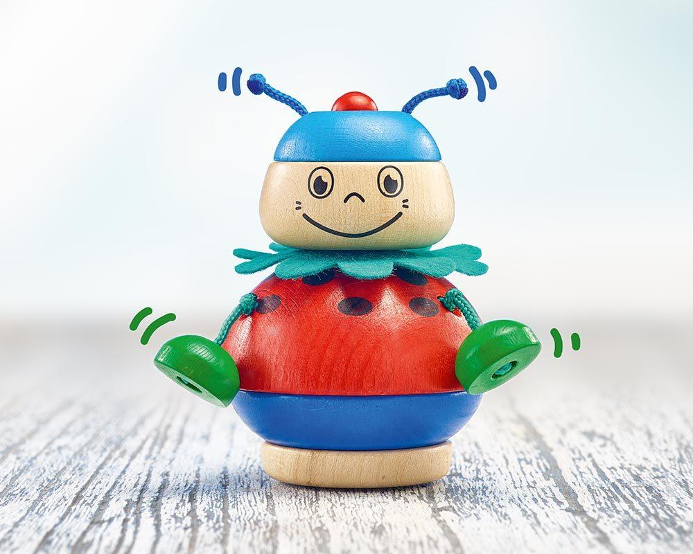 bois jouet a empiler scarabee kalle