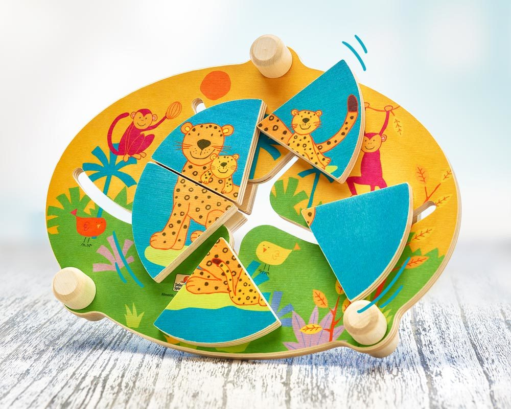 bois puzzle foret vierge animaux