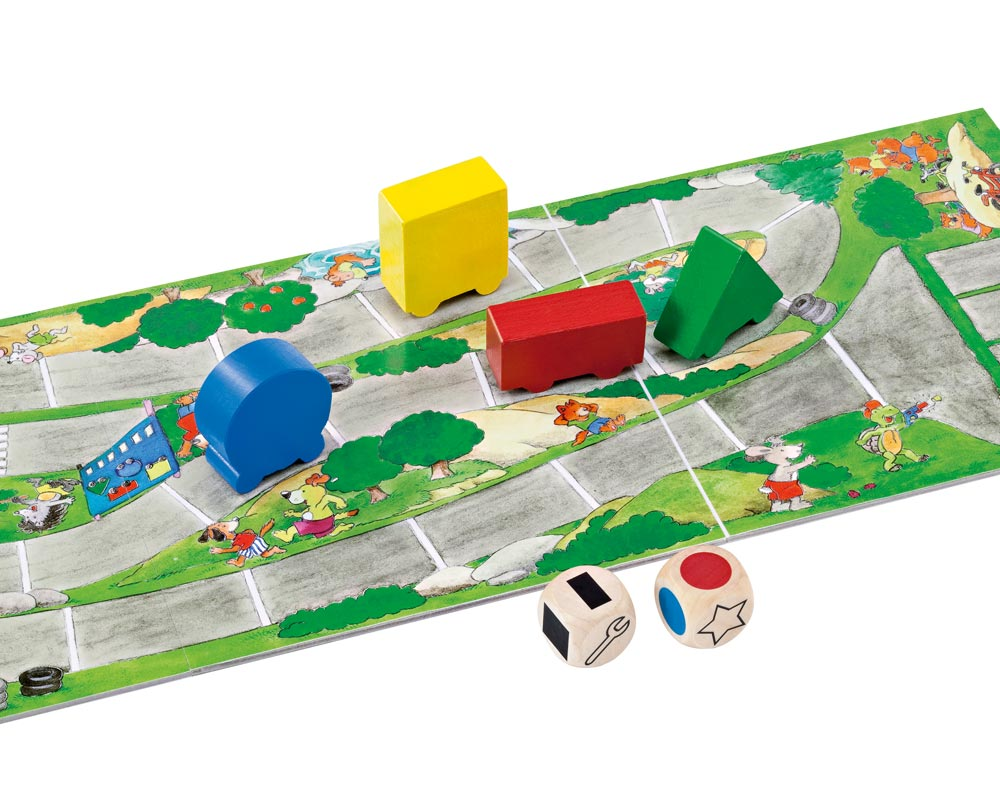 bois jeu de societe course de voitures apprendre couleurs