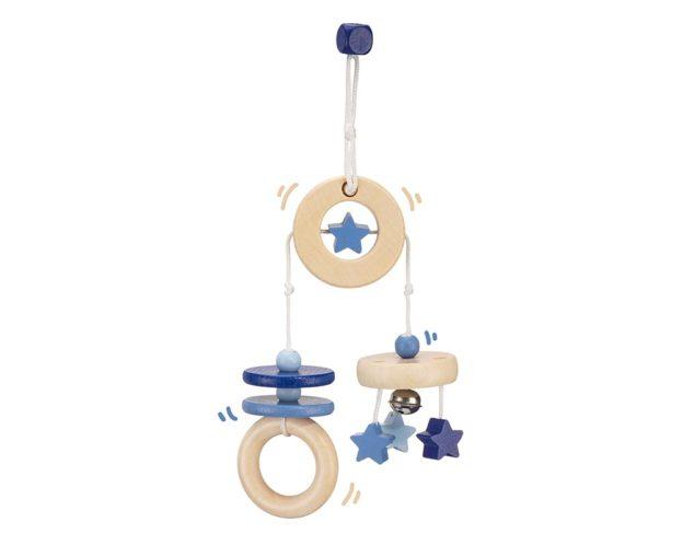 bois mini portique bleu bellybutton