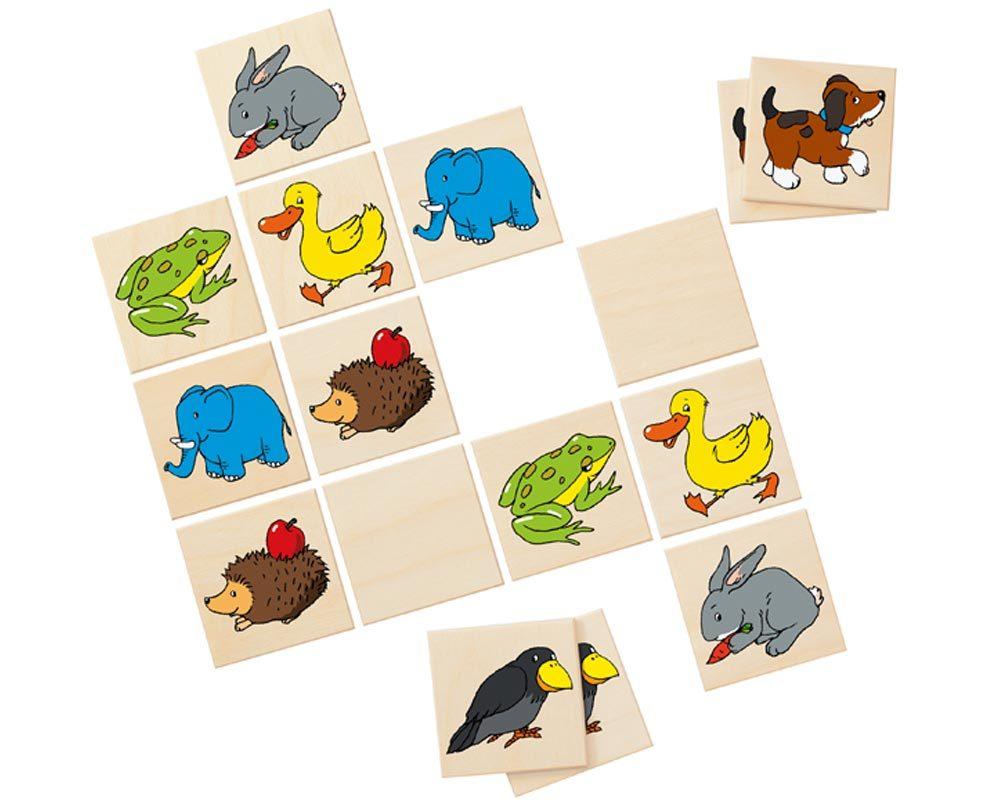 bois jeu mémoire enfants animaux