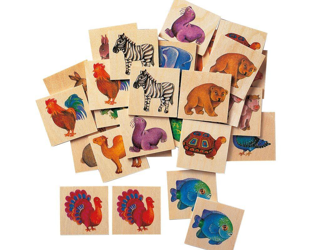 bois images jeu memoire animaux du zoo