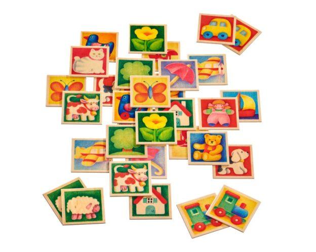 bois jeu memoire enfants couleurs