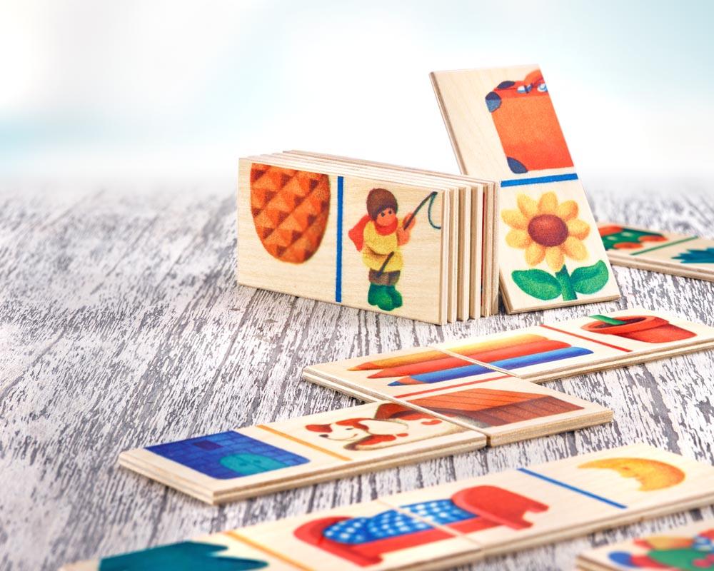 bois jeu de pose puzzle frise