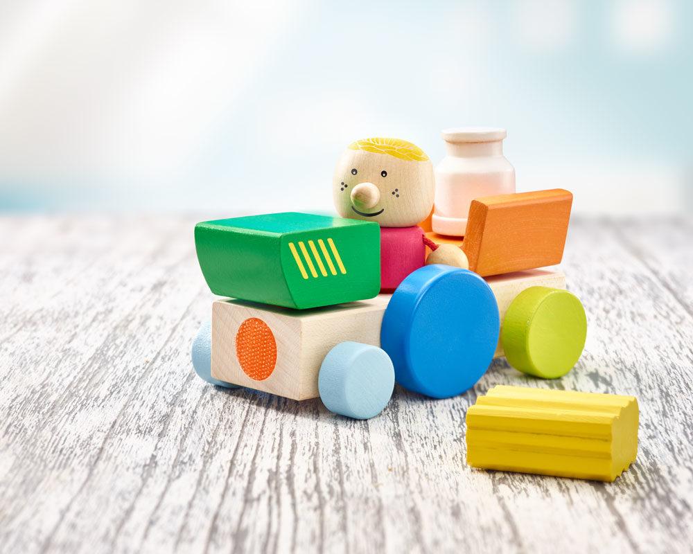 KLETTINI® ferme, jouet à empiler à bande velcro