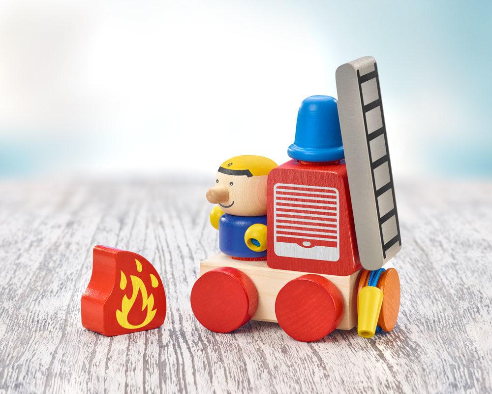 KLETTINI® pompiers, jouet à empiler à bande velcro