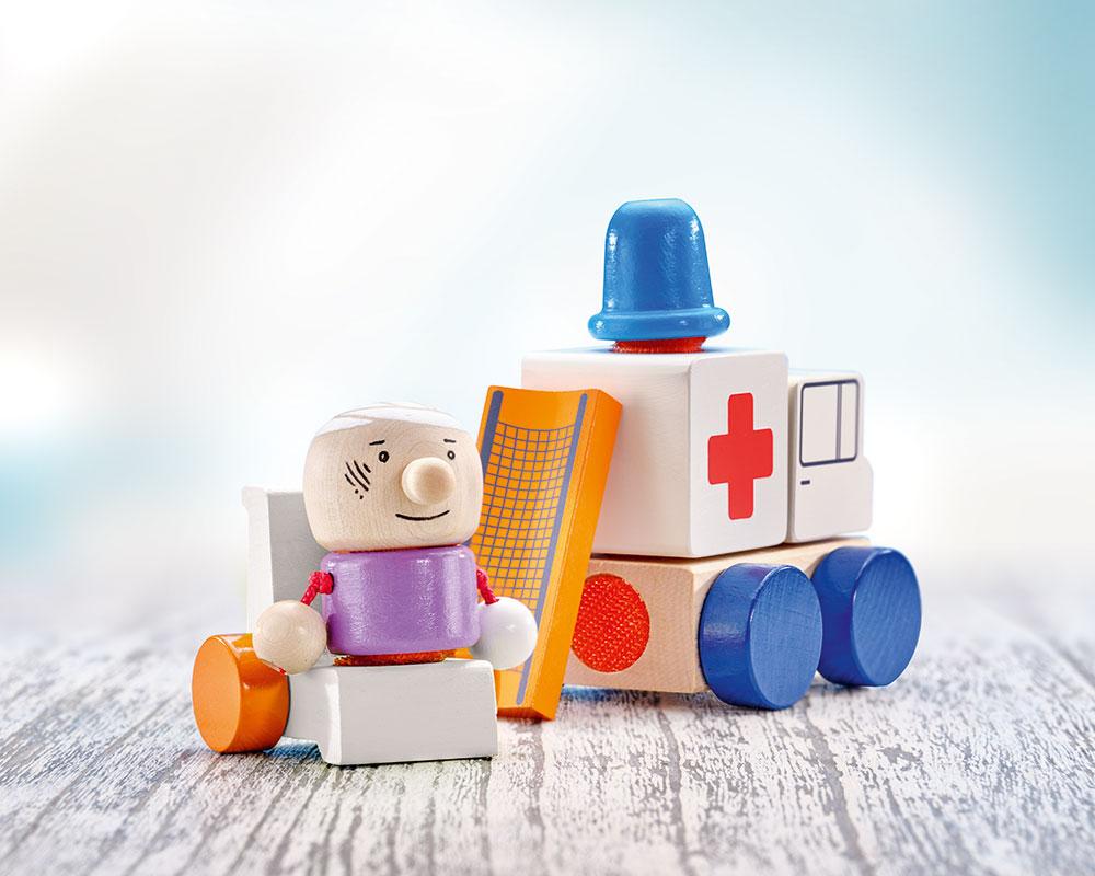 KLETTINI® ambulance, véhicule à bande velcro, jouet d'empilage