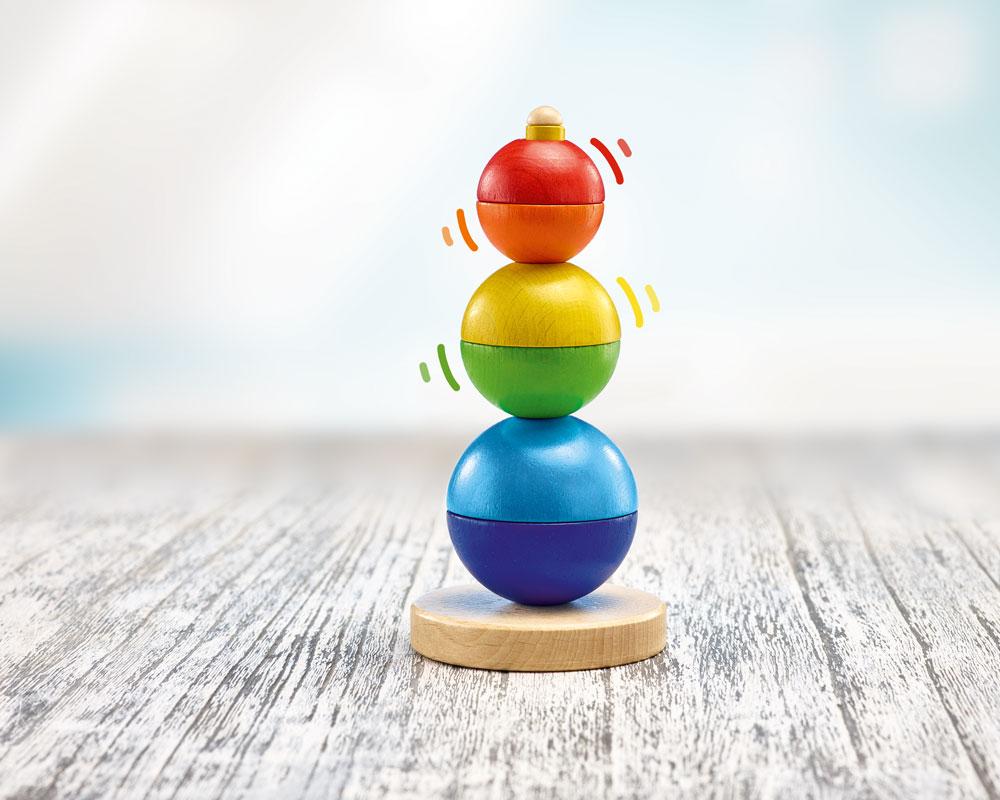 bois jouet a empiler bebe boules