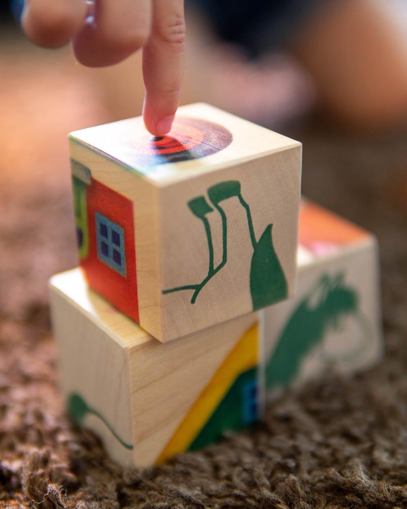 images cubes ferme jouets en bois emotions